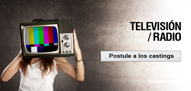 television postule a los castings